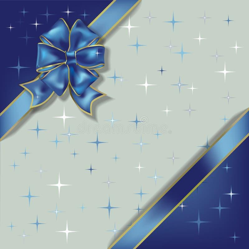 De illustratie van Kerstmis op een sterrenachtergrond royalty-vrije illustratie