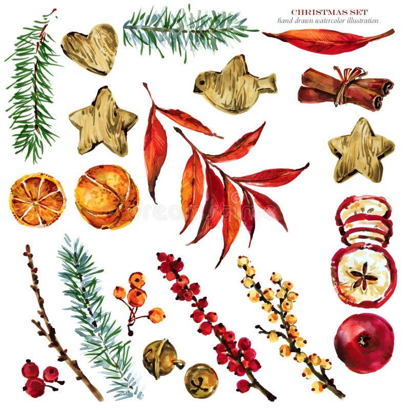De illustratie van de Kerstmisaard de wintervakantie voor groeten wordt geplaatst die royalty-vrije illustratie