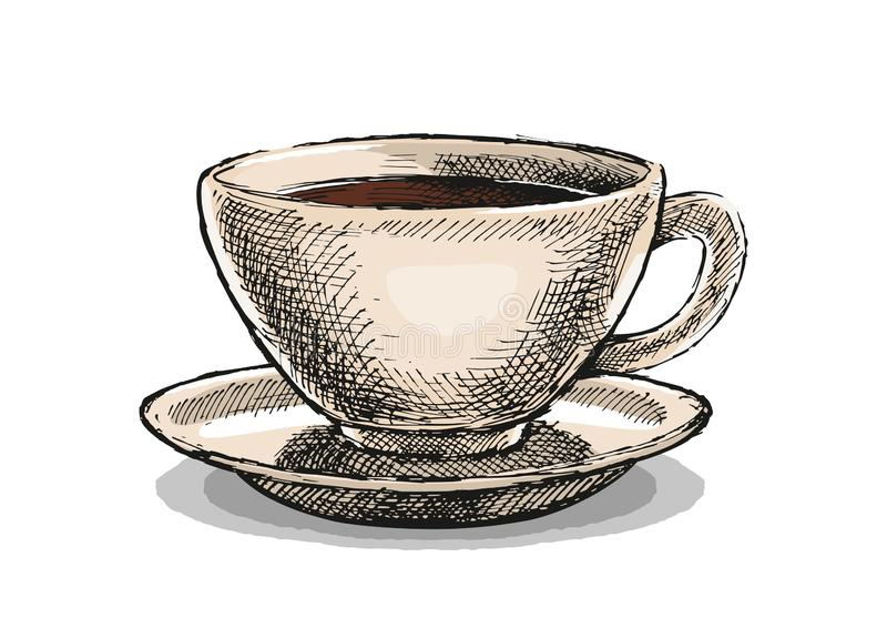 De Illustratie van de koffiekop stock foto's