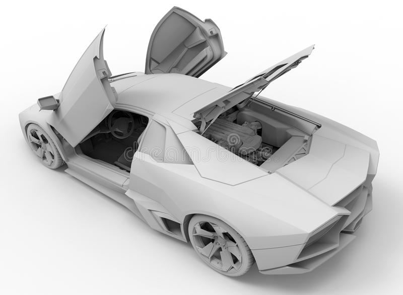 De illustratie van Lamborghini Reventon royalty-vrije illustratie