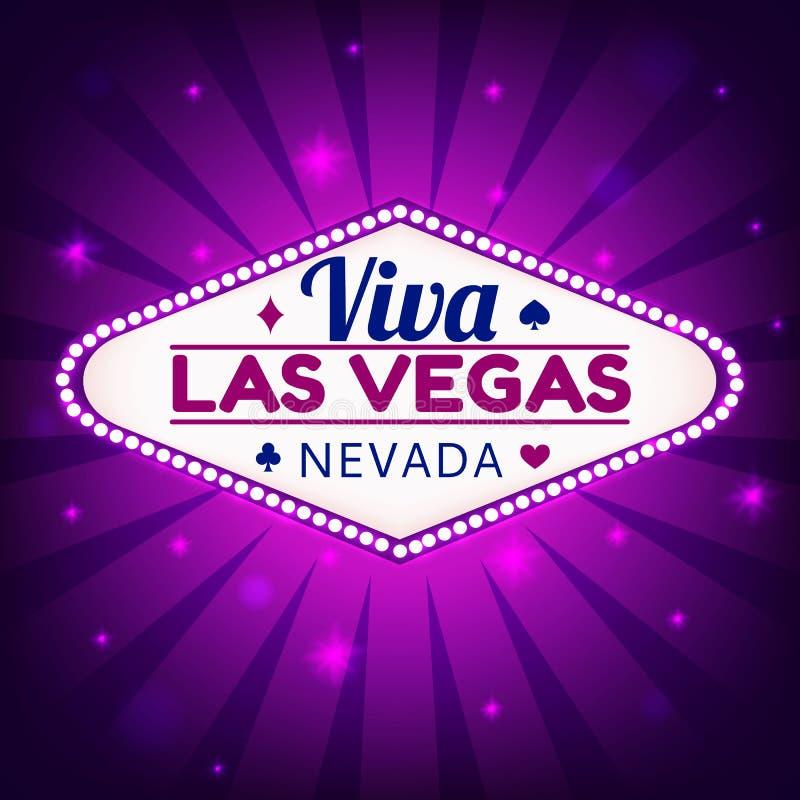 De illustratie van Las Vegas royalty-vrije illustratie