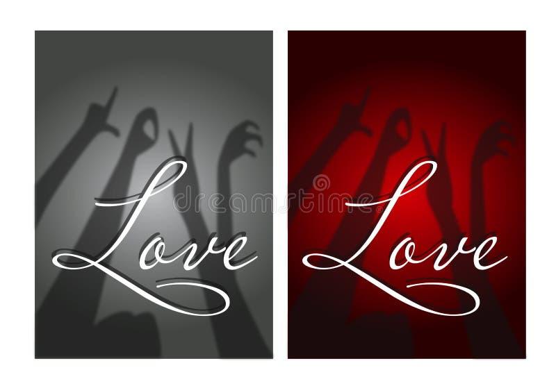 De illustratie van liefdebrieven royalty-vrije stock afbeeldingen