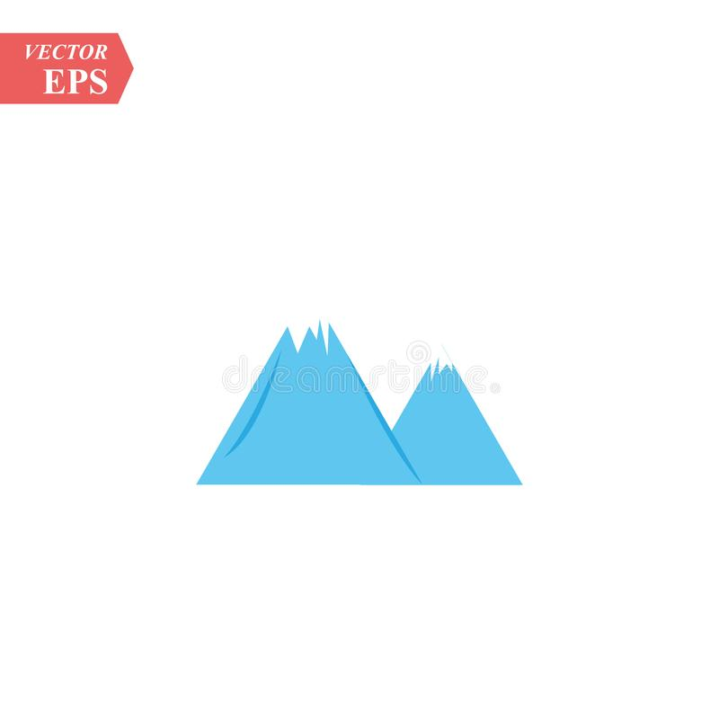 De illustratie van Logo Business Template Vector van het bergpictogram stock illustratie