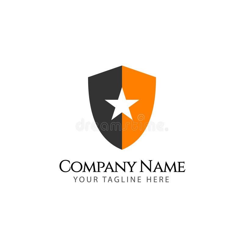 De Illustratie van Logo Emblem Vector Template Design van het sterbedrijf stock illustratie