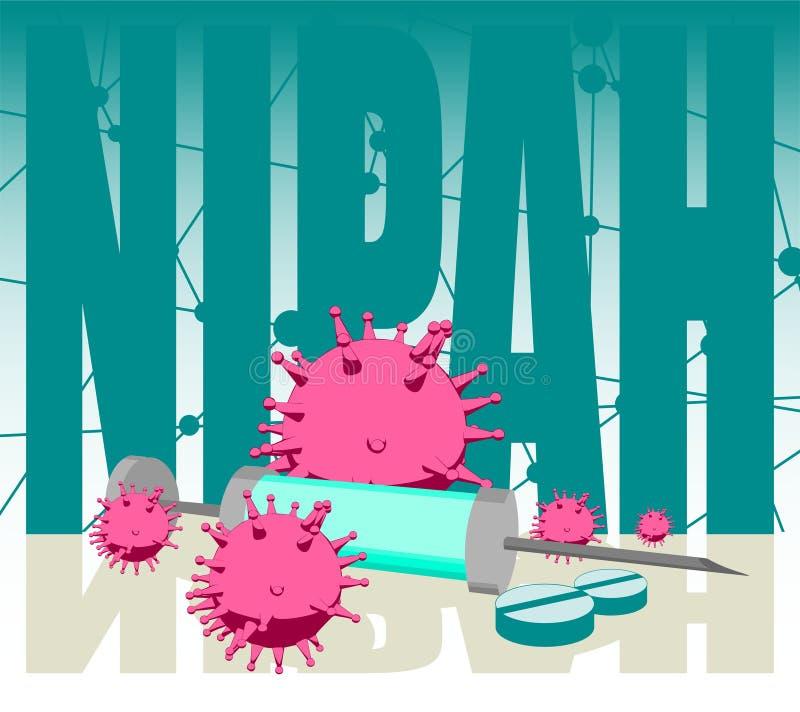 De illustratie van de Nipahziekte stock illustratie