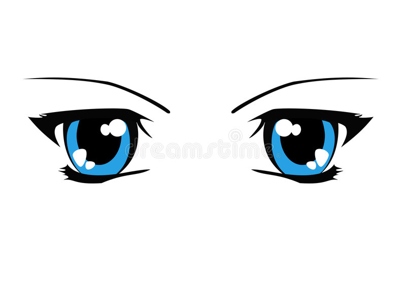 De illustratie van ogen stock illustratie
