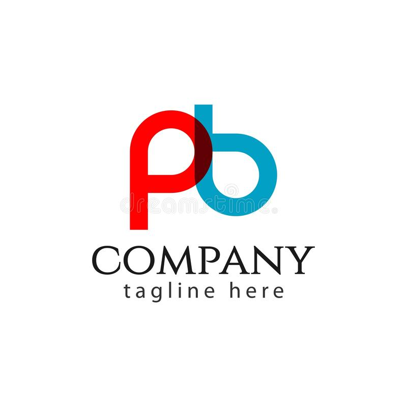 De Illustratie van PB Company Logo Letter Vector Template Design stock illustratie