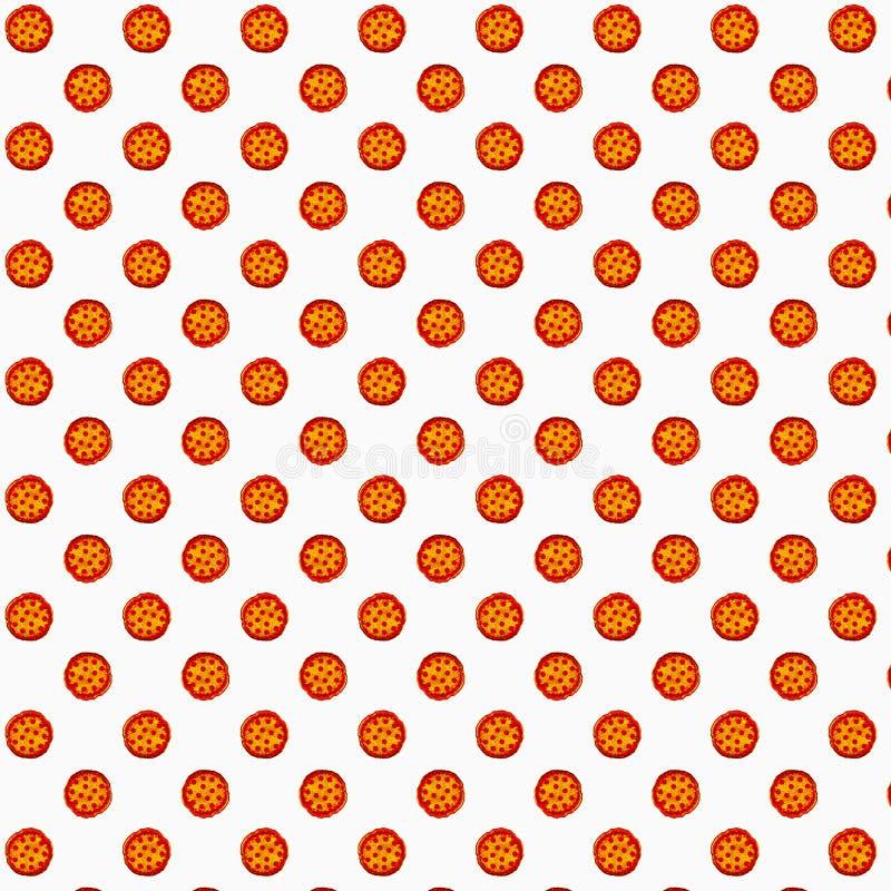 De illustratie van de pepperonispizza voor productdecor, reclame, giftkaart of Webontwerp royalty-vrije stock afbeelding