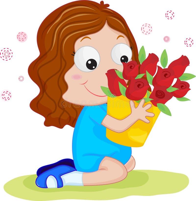 De illustratie van rozen stock illustratie
