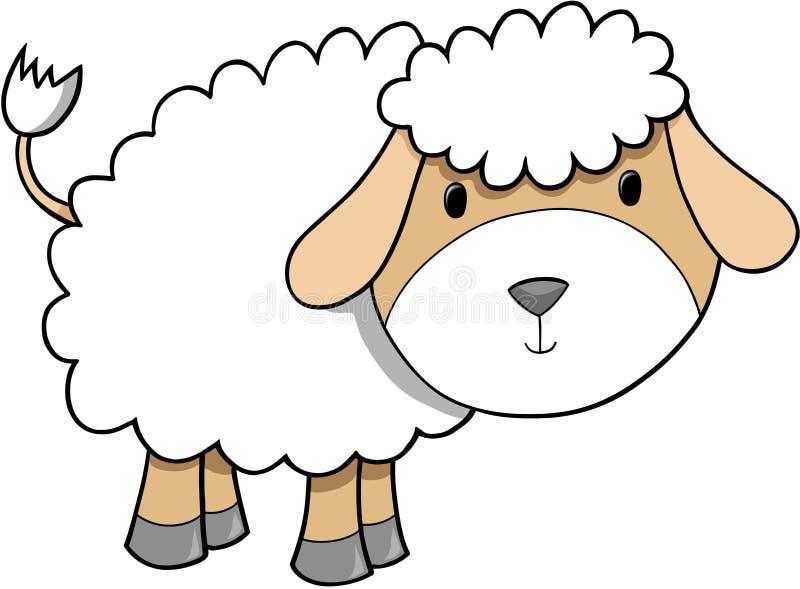 De Illustratie van schapen royalty-vrije illustratie