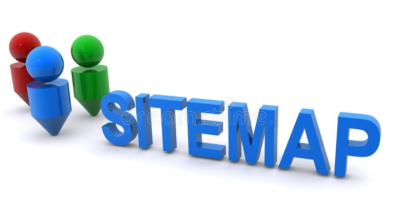 De illustratie van Sitemap vector illustratie