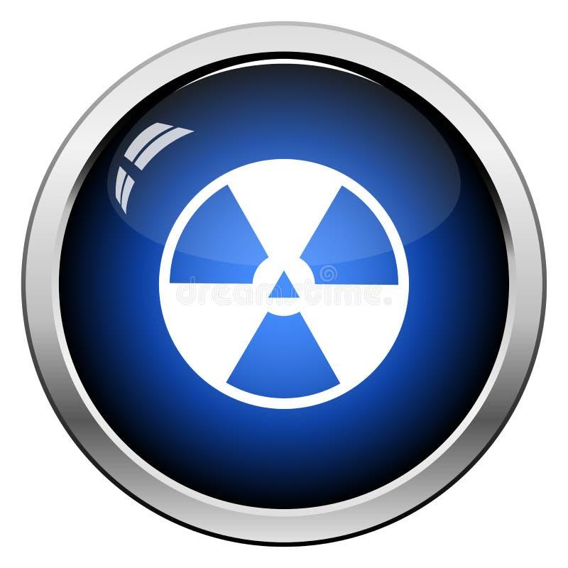 De illustratie van de straling icon stock illustratie