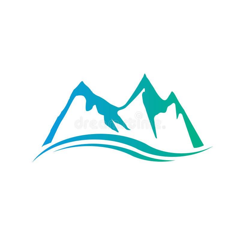 De Illustratie van Swoosh van bergenpieken royalty-vrije illustratie