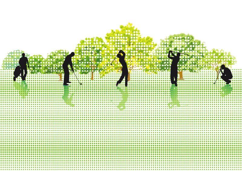 De spelers van het golf royalty-vrije illustratie
