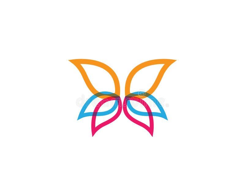 De illustratie van vlinderlogo template vector illustratie