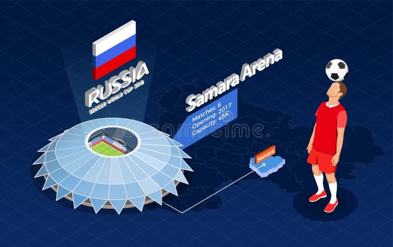 De Illustratie van de voetbalwereldbeker royalty-vrije illustratie