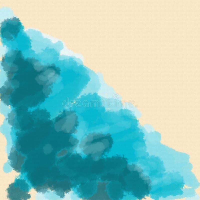 De illustratie van de waterverf Golven van het overzees, de oceaan of de rivier royalty-vrije illustratie