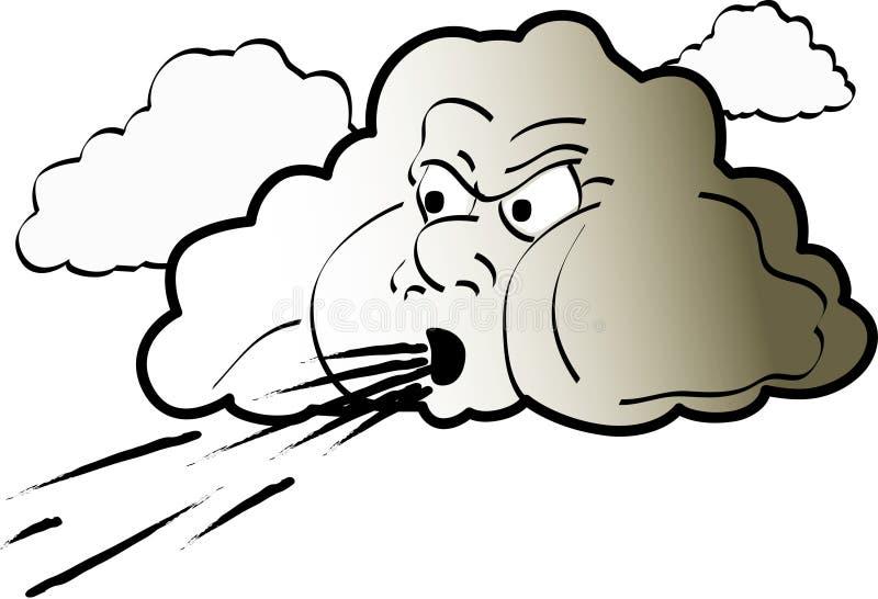 De Illustratie van wolken royalty-vrije illustratie