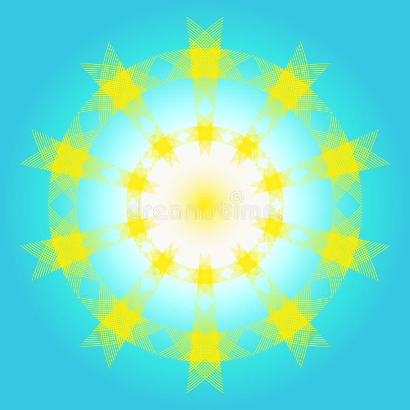 De illustratie van zon en hemelpatroon voor pictogram ontwerpt de kleurrijke kaarten van de decoratiegroet voor vakantie vector illustratie