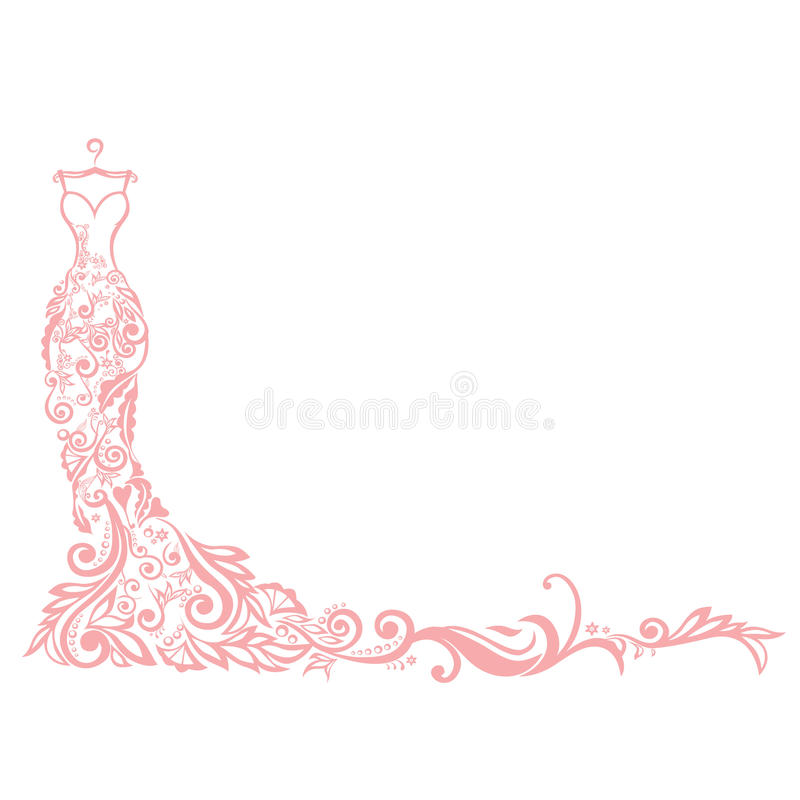 De Illustratie Vectorembleem van de kledingsboutique royalty-vrije illustratie