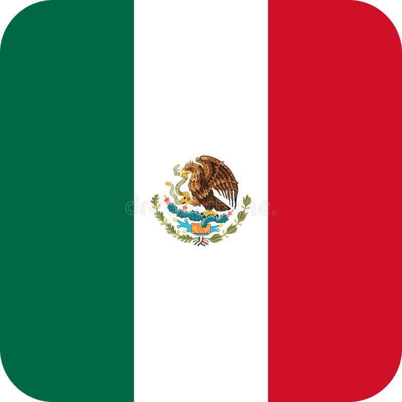 De illustratie vectoreps van vlagmexico Amerika vector illustratie