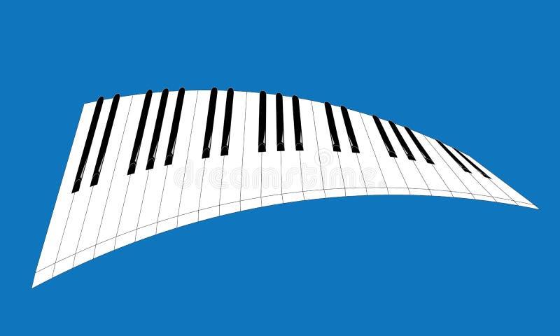 De illustratieart. van het pianobroodje stock illustratie