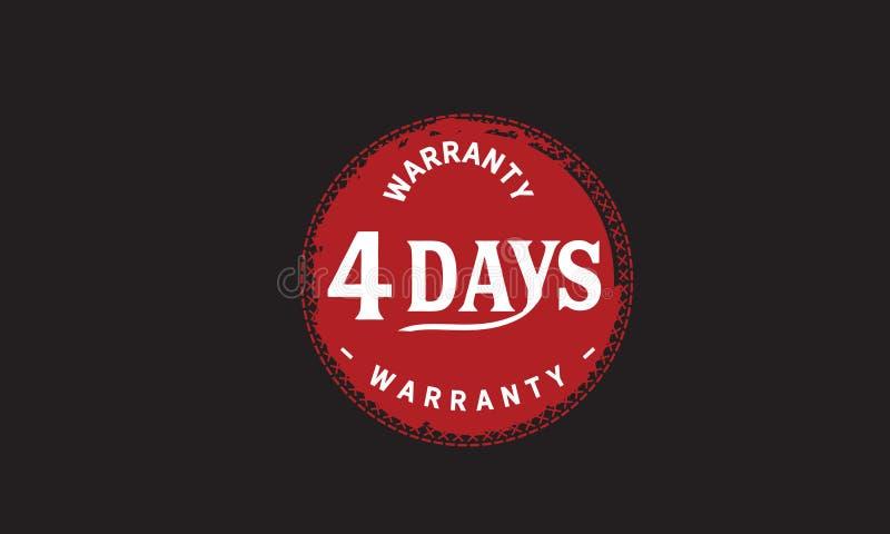 de illustratieontwerp van de 4 dagen rood garantie vector illustratie