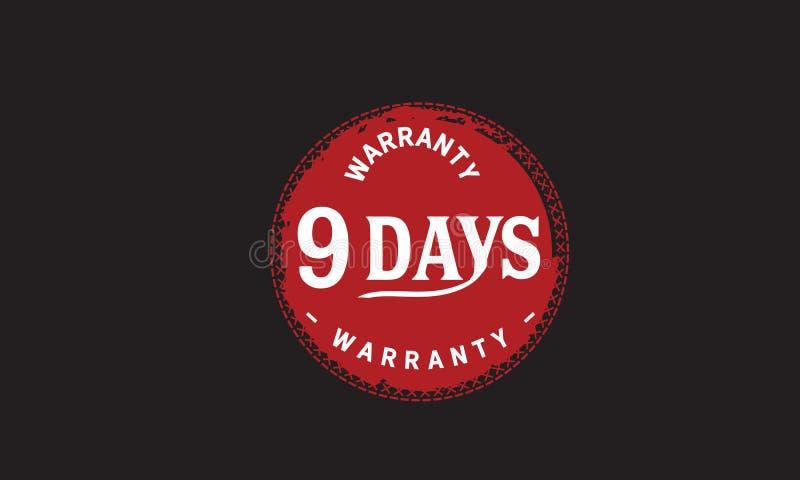 de illustratieontwerp van de 9 dagen rood garantie stock illustratie