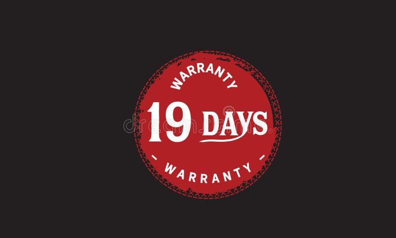 de illustratieontwerp van de 19 dagen rood garantie stock illustratie