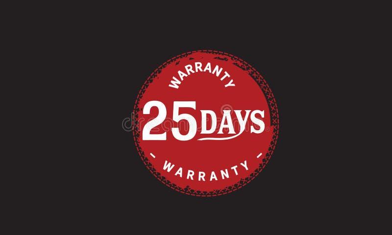 de illustratieontwerp van de 25 dagen rood garantie royalty-vrije illustratie
