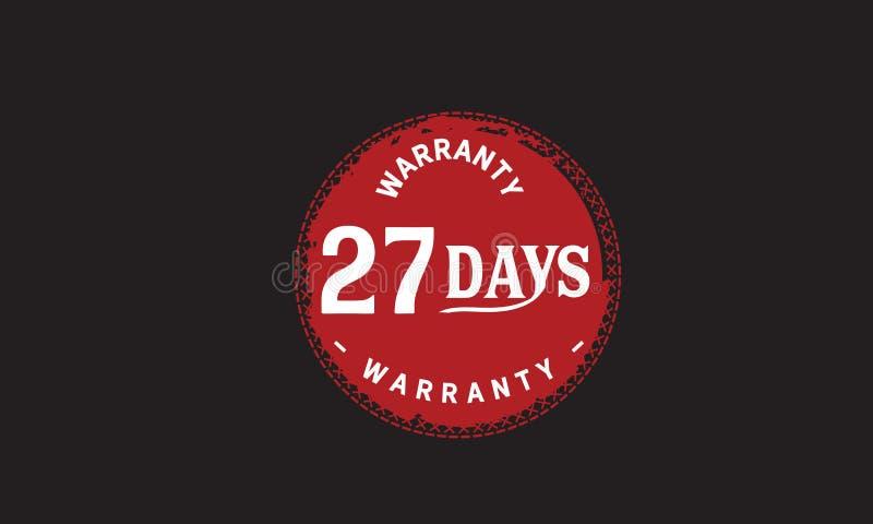 de illustratieontwerp van de 27 dagen rood garantie vector illustratie
