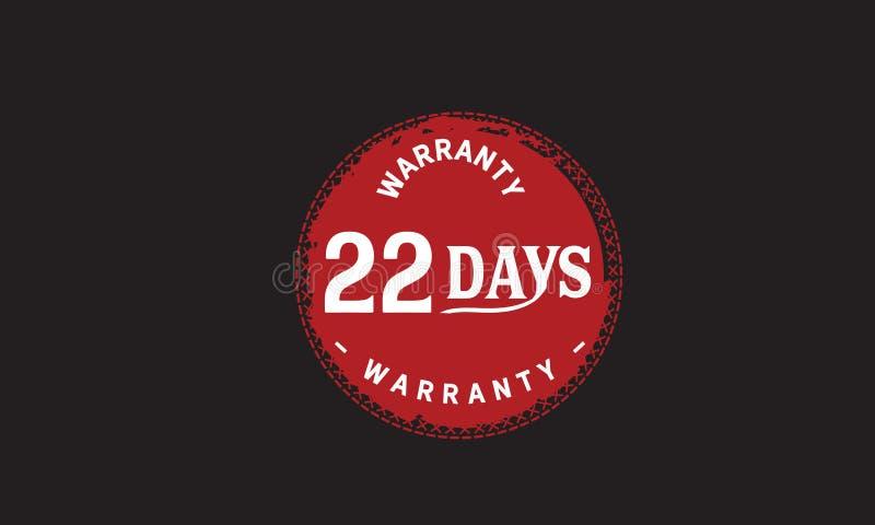 de illustratieontwerp van de 22 dagen rood garantie royalty-vrije illustratie