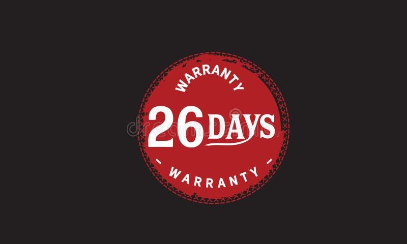 de illustratieontwerp van de 26 dagen rood garantie stock illustratie