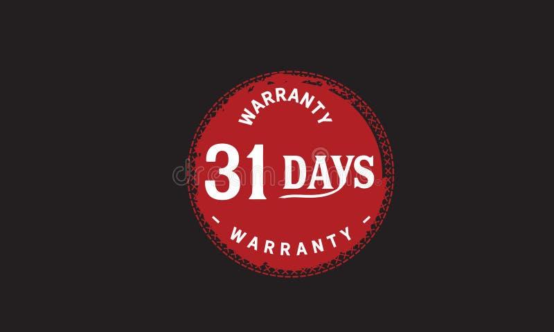 de illustratieontwerp van de 31 dagen rood garantie vector illustratie