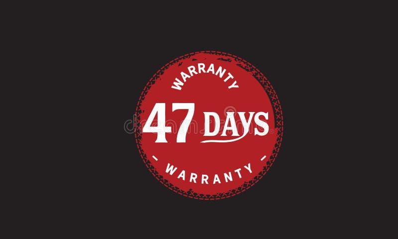 de illustratieontwerp van de 47 dagen rood garantie vector illustratie