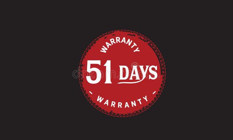 de illustratieontwerp van de 51 dagen rood garantie royalty-vrije illustratie