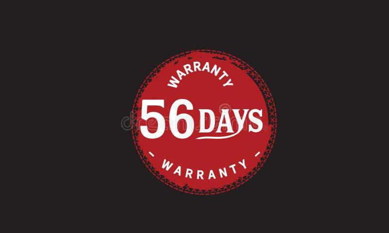 de illustratieontwerp van de 56 dagen rood garantie stock illustratie