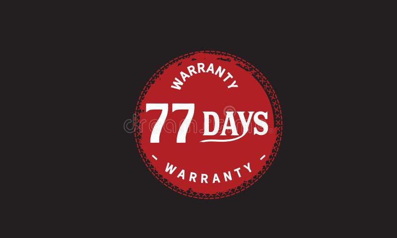 de illustratieontwerp van de 77 dagen rood garantie royalty-vrije illustratie