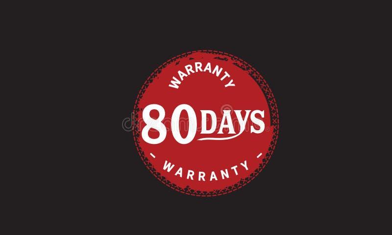 de illustratieontwerp van 80 dagen rood garantie royalty-vrije illustratie