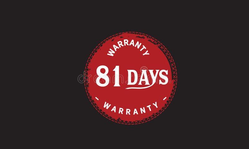 de illustratieontwerp van de 81 dagen rood garantie stock illustratie