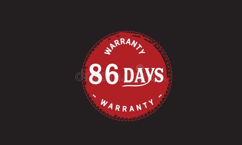 de illustratieontwerp van de 86 dagen rood garantie stock illustratie