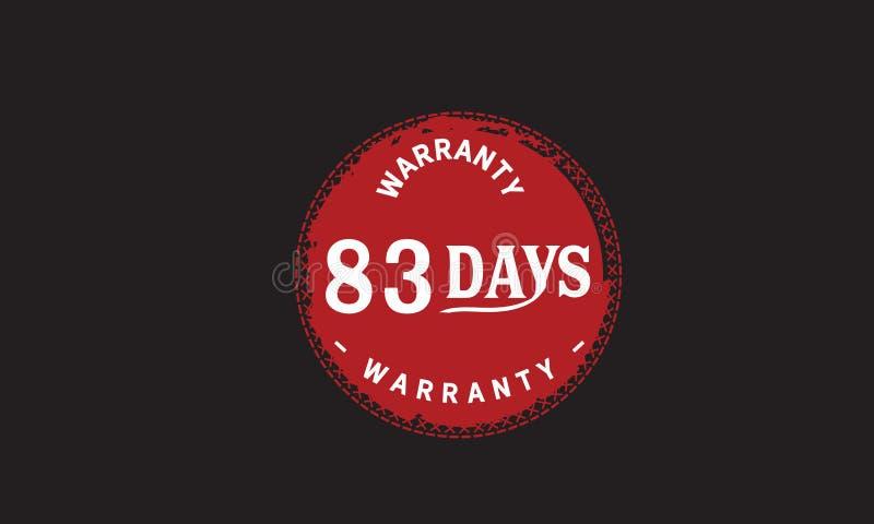 de illustratieontwerp van de 83 dagen rood garantie royalty-vrije illustratie