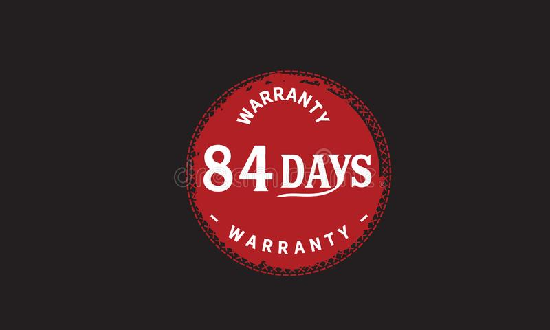 de illustratieontwerp van de 84 dagen rood garantie royalty-vrije illustratie