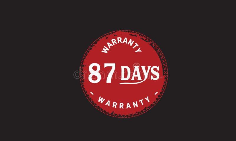 de illustratieontwerp van de 87 dagen rood garantie stock illustratie