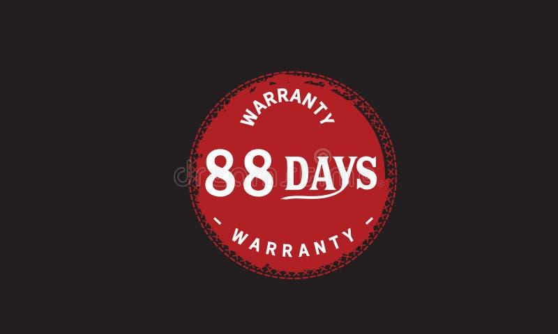 de illustratieontwerp van de 88 dagen rood garantie royalty-vrije illustratie