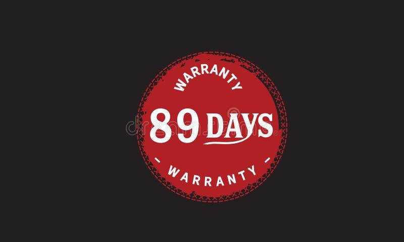 de illustratieontwerp van de 89 dagen rood garantie royalty-vrije illustratie