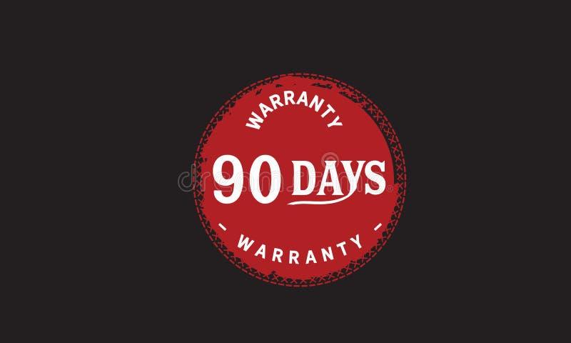 de illustratieontwerp van de 90 dagen rood garantie royalty-vrije illustratie