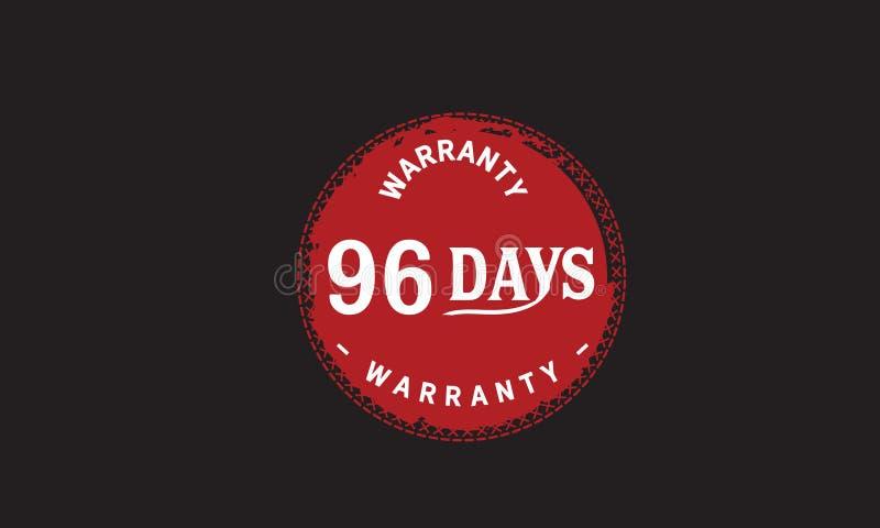 de illustratieontwerp van de 96 dagen rood garantie vector illustratie