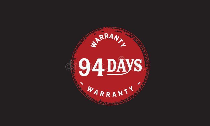 de illustratieontwerp van de 94 dagen rood garantie royalty-vrije illustratie