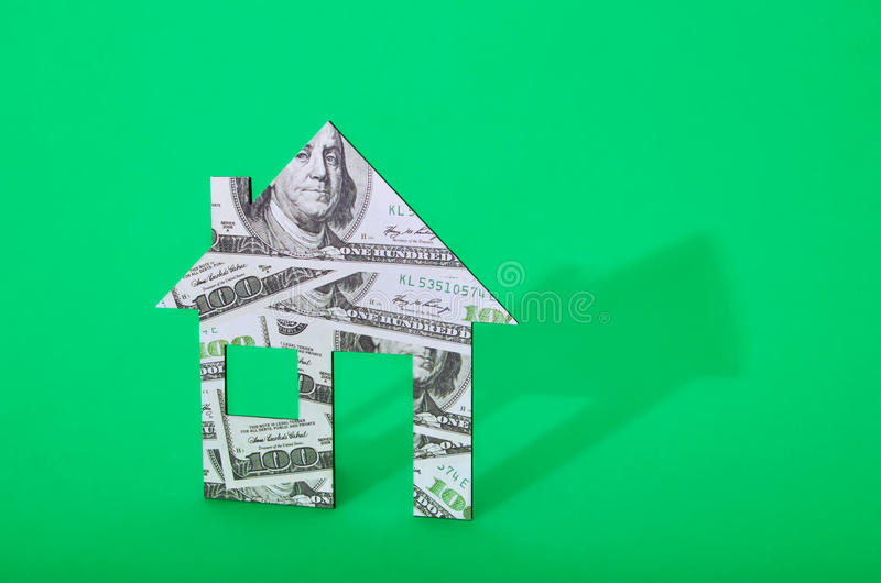 de illustratieontwerp van het geldhuis over een witte achtergrond royalty-vrije stock foto